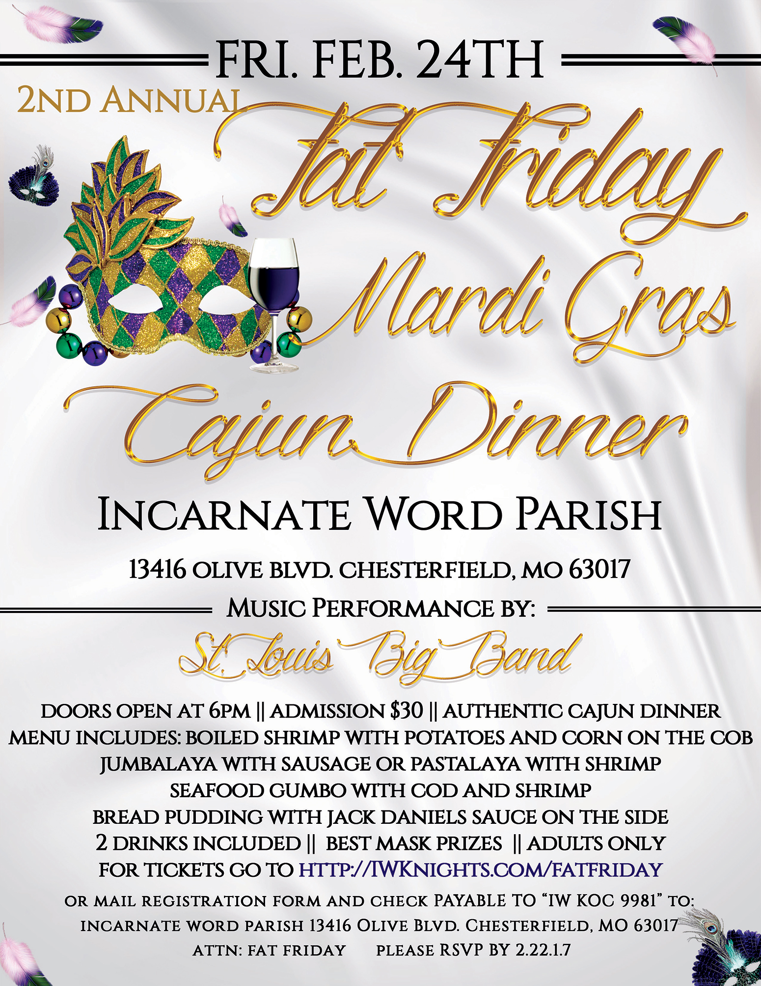 2nd Annual Fat Friday 2017 Flyer